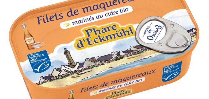 « Filets de maquereaux marinés au cidre BIO » Phare d'Eckmüh.
