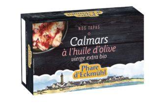 Apéritif / Tapas : Calmars à l'huile d'olive BIO & Moules BIO à l'escabèche de Phare d'Eckmühl.