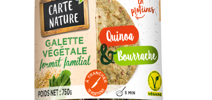 Inédit-Galettes Familiales Véganes Quinoa/Bourrache + Poivrons/Shiitaké.
