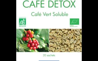Café DETOX vert Soluble 100% BIO : pause café saine et naturelle.