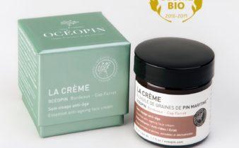 La crème à l'huile de graines de pin maritime, lauréate Trophées Cosmebio 2018