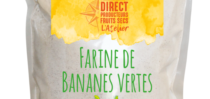 Farine de Bananes Vertes BIO & SANS GLUTEN.